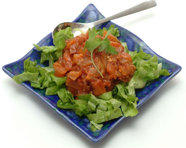 tangy eggplant salad